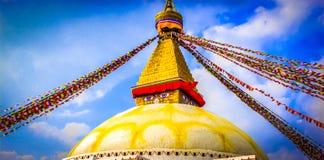 Boudhanath Stupa, Κατμαντού, Νεπάλ Στοκ Φωτογραφία