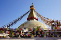 Boudhanath Stupa στην κοιλάδα του Κατμαντού Στοκ Εικόνες