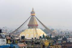 Boudhanath Stupa στο Κατμαντού Στοκ εικόνες με δικαίωμα ελεύθερης χρήσης