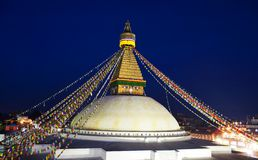 boudhanath stupa 库存照片
