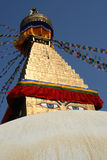 Boudhanath Stupa Arkivbild