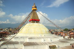 Boudhanath Stupa 免版税库存照片