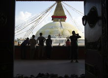 Boudhanath Stupa Stockfotos