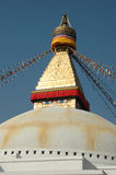 Boudhanath Stupa,relifious monument,Nepal,Asia. Boudhanath (also called Bouddhanath, Bodhnath or Baudhanath or the Caitya) is one of the holiest Buddhist sites stock photography