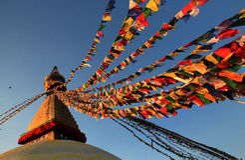 Boudhanath Stupa Arkivbilder