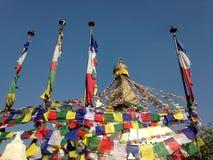 Boudhanath Stupa em Kathmandu imagens de stock royalty free