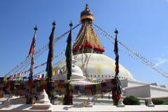 Boudhanath Stupa em Nepal imagens de stock