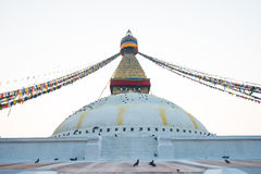 Boudhanath stupa Royalty Free Stock Images