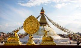 Boudhanath Stupa i Kathmandu Arkivfoto