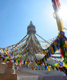 Boudhanath Stupa i Kathmandu Royaltyfri Foto