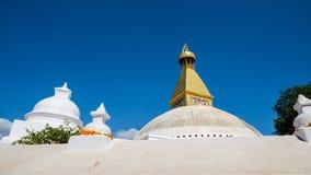 Boudhanath Stupa i Kathmandu Arkivbilder