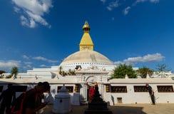 Boudhanath Stupa i Kathmandu Arkivbild