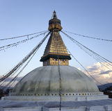 Boudhanath Stupa i Kathmandu Arkivfoton