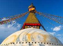 Boudhanath stupa i Kathmandu, Nepal Fotografering för Bildbyråer