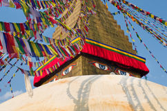 Boudhanath stupa i Kathmandu, Nepal Royaltyfri Bild