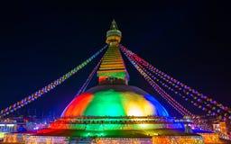 Boudhanath stupa i Kathmandu, Nepal Royaltyfri Fotografi