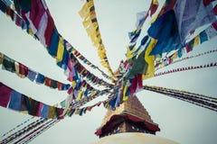 Boudhanath Stupa i Kathmanduet Valley, Nepal Royaltyfri Bild