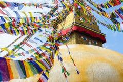 Boudhanath stupa i Katmandu Arkivfoto