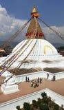 Boudhanath Stupa i Katmandu, huvudstaden av Nepal royaltyfri bild