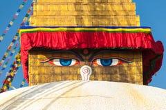 Boudhanath stupa i Katmandu, Nepal Arkivfoto
