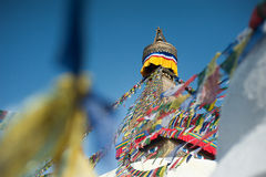 Boudhanath Stupa im Kathmandutal, Nepal Stockbilder