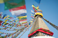 Boudhanath Stupa im Kathmandutal, Nepal Lizenzfreies Stockfoto