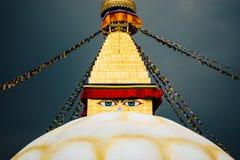 Boudhanath Stupa a Kathmandu Fotografie Stock Libere da Diritti