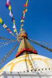 Boudhanath Stupa in Kathmandu Stockfotos
