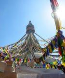 Boudhanath Stupa in Kathmandu Lizenzfreies Stockfoto