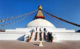 Boudhanath stupa - Kathmandu - Nepa Stock Image