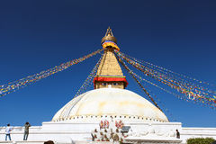 Boudhanath Stupa in Kathmandu Nepal Stock Photo