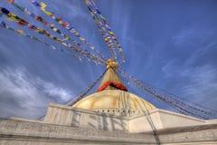 Boudhanath stupa kathmandu nepal Stock Photography