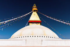 Boudhanath stupa in Kathmandu, Nepal Royalty Free Stock Photos