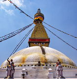 Boudhanath Stupa, Kathmandu, Nepal. Boudhanath is one of the holiest Buddhist sites in Bouddha, Nepal Stock Photography