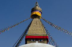 Boudhanath Stupa Wisdom Eyes stock photography