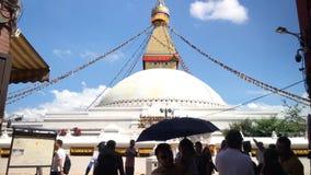 Boudhanath Stupa in Kathmandu, Nepal. 3D sound stock video
