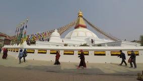 Boudhanath stupa in Kathmandu, Nepal stock video