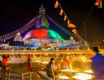 Boudhanath stupa in Kathmandu, Nepal Royalty Free Stock Images