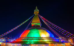 Boudhanath stupa in Kathmandu, Nepal Royalty Free Stock Photography