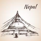 Boudhanath Stupa - Kathmandu, Nepal Stock Photo