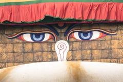 Boudhanath Stupa in the Kathmandu valley, Nepal Stock Image