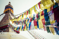 Boudhanath Stupa in the Kathmandu valley, Nepal Royalty Free Stock Photos