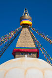 Boudhanath Stupa in the Kathmandu valley, Nepal Royalty Free Stock Photography