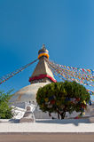 Boudhanath Stupa in the Kathmandu valley, Nepal Royalty Free Stock Images