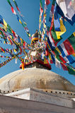 Boudhanath Stupa in the Kathmandu valley, Nepal Stock Photography