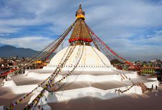 Boudhanath stupa - Kathmandu Royalty Free Stock Images