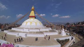Boudhanath Stupa in Katmandu stock footage