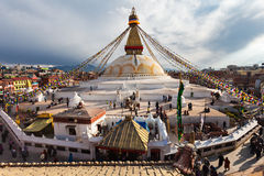 Boudhanath Stupa, Katmandu Stock Afbeelding