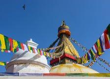 Boudhanath Stupa in Katmandu Stock Foto's