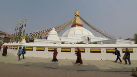 Boudhanath stupa in Katmandu, Nepal stock video